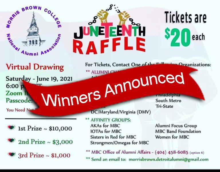 Juneteenth Raffle Winners